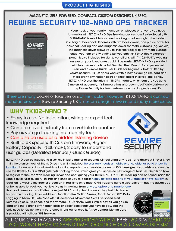 genuine gps tracker magnetic car vehicle personal tracking. Black Bedroom Furniture Sets. Home Design Ideas