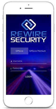Rewire Security APP Login Screen