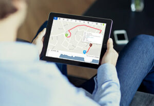 GPSLive Tracking Software on a Tablet