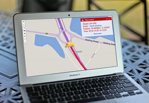 Driver Behaviour Screen on GPSLive