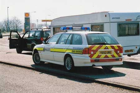 Stolen Caravan Police on the Scene UK