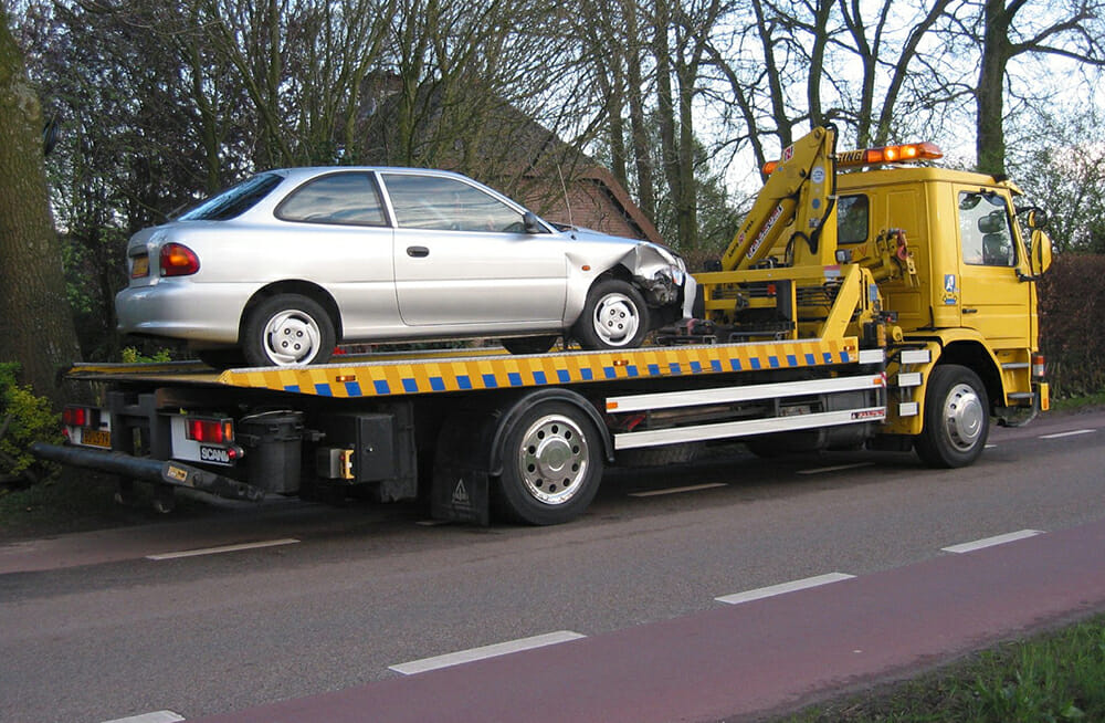 Car Being Towed by a Tow Truck