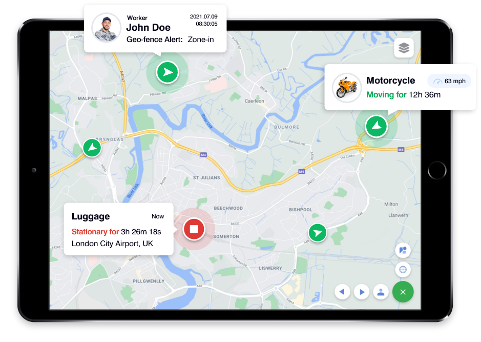 Ipad GPS Tracking APP